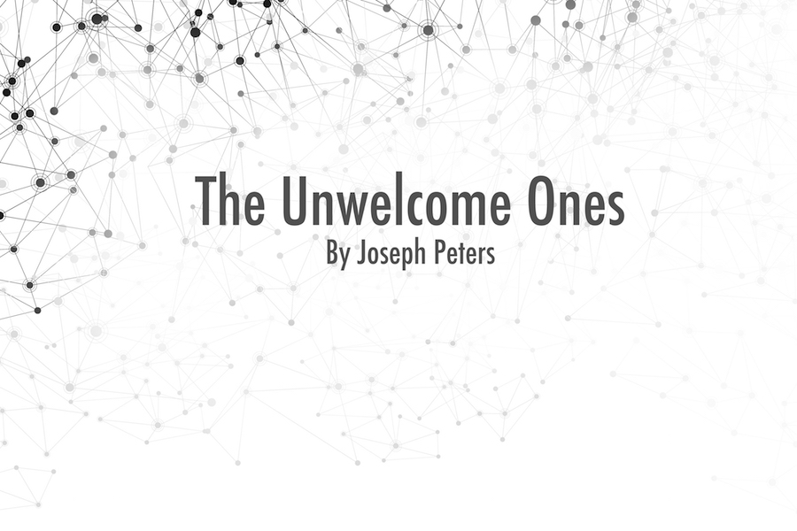 Graphic to represent orignal science fiction The Unwelcome Ones by Coal Cracker's Joseph Peters.