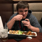 Photo of Jacob Witiszin, the self-proclaimed food expert, at the Brickhouse Bar and Grill in orwigsburg, PA.