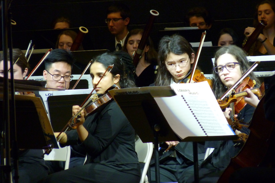 Photo by David Lindenmuth of musicians at the Pennsylvania Music Educators Association District 10 Orchestra Festival.
