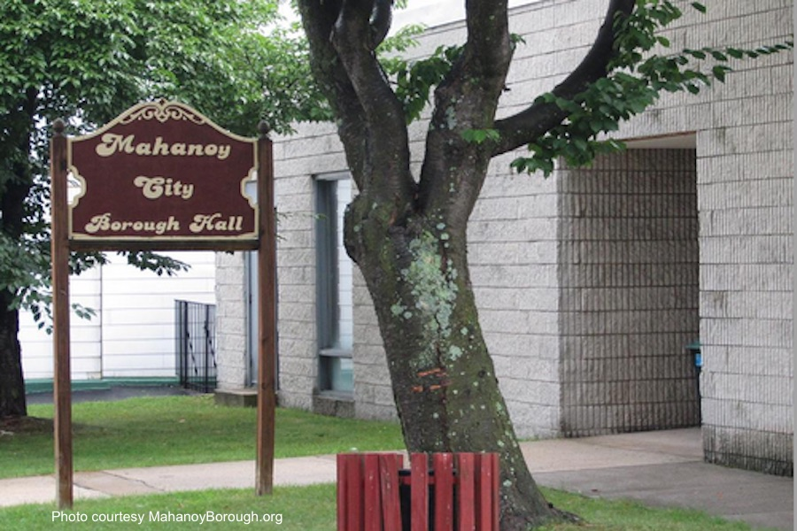 Photo of the Mahanoy City Borough building courtesy of the borough's website.