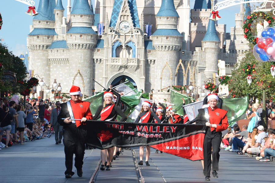 Contributed photo of the Tri Valley High School Band marching at Disney World.
