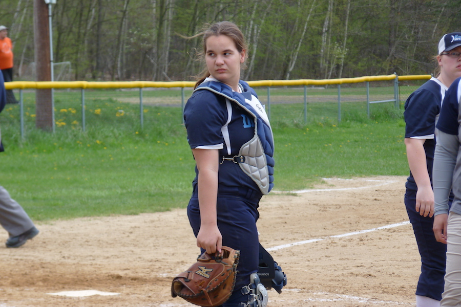 Photo of a softball pitcher by David Lindenmuth.