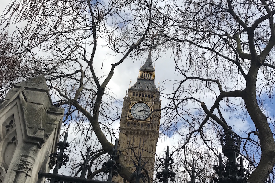 Photo by Meredith Rhoades of Big Ben in London.