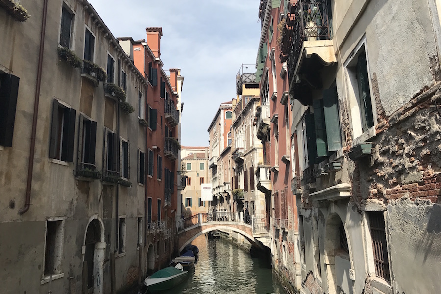 Photo of Venice by Meredith Rhoades. Traveling through Europe chaned her worldview.