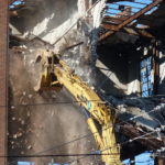 Photo by David Lindenmuth of the Kaier Brewery demolition.