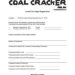 Photo of Coal Cracker Kids Fresh Paint Days Registration Form.