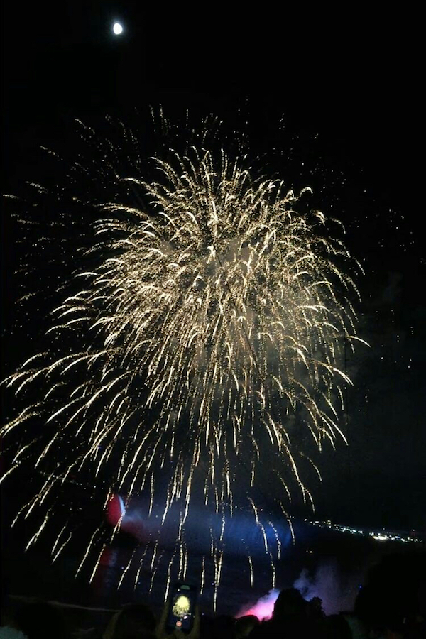 Photo of fireworks at Niagara Falls by Rhiannon Barkus.