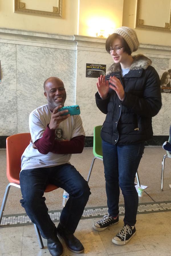 Photo of Garry Pierre Pierre and Serena Bennett.