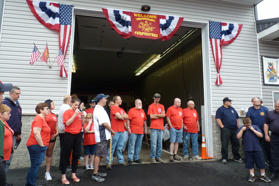 Photo of the reopening of The Washington Hook and Ladder Fire Company in Mahanoy City, PA.
