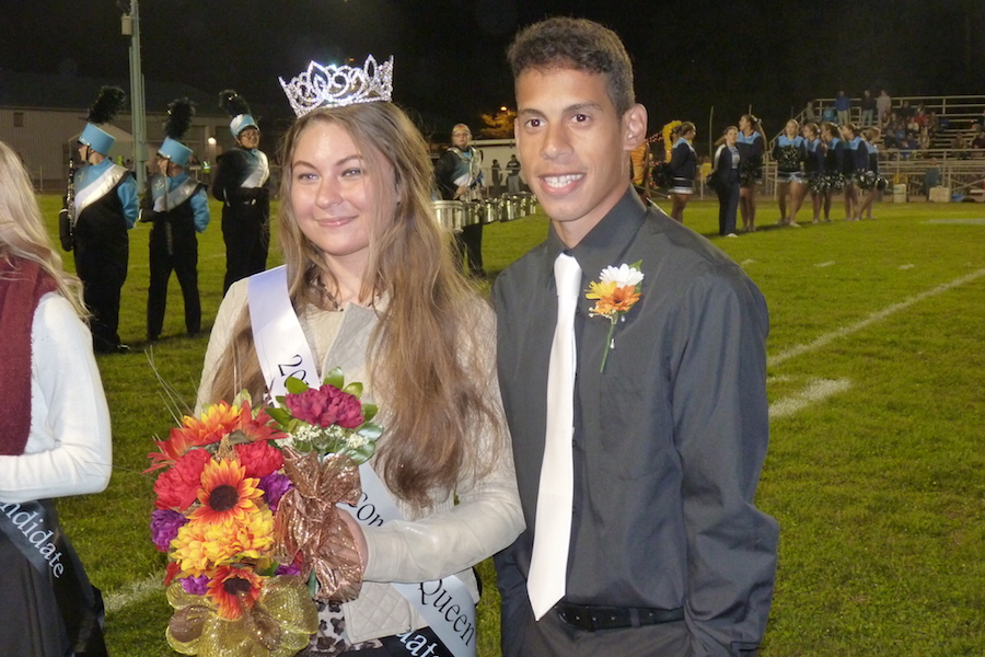 Photo of Shenandoah Valley High School 2017 Homecoming Queen Danielle DiNofa with Brian Nunez.