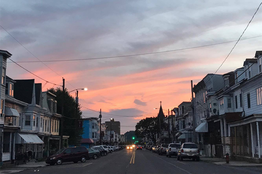 Photo of a sunset taken on East Centre Street in Mahanoy City, PA.